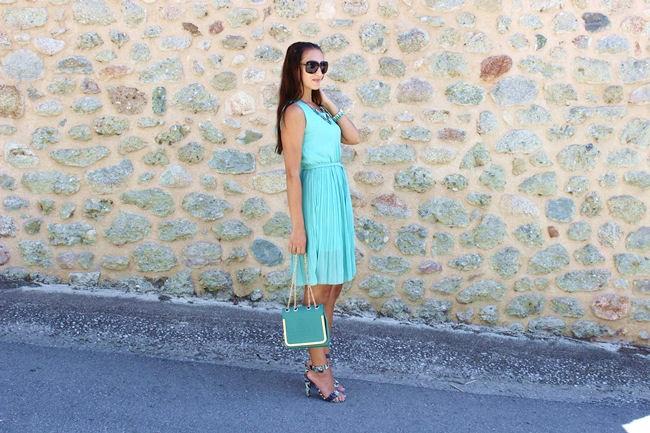 SammyDress blue green dress and blue green purse