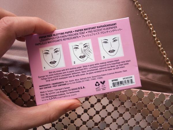 nyx papeles antibrillo blotting paper INCI