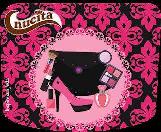 Etiqueta Nucita de Fiesta de Maquillaje para imprimir gratis.