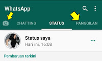 Cara Membuat Status Teks Dan Video Di Whatsapp