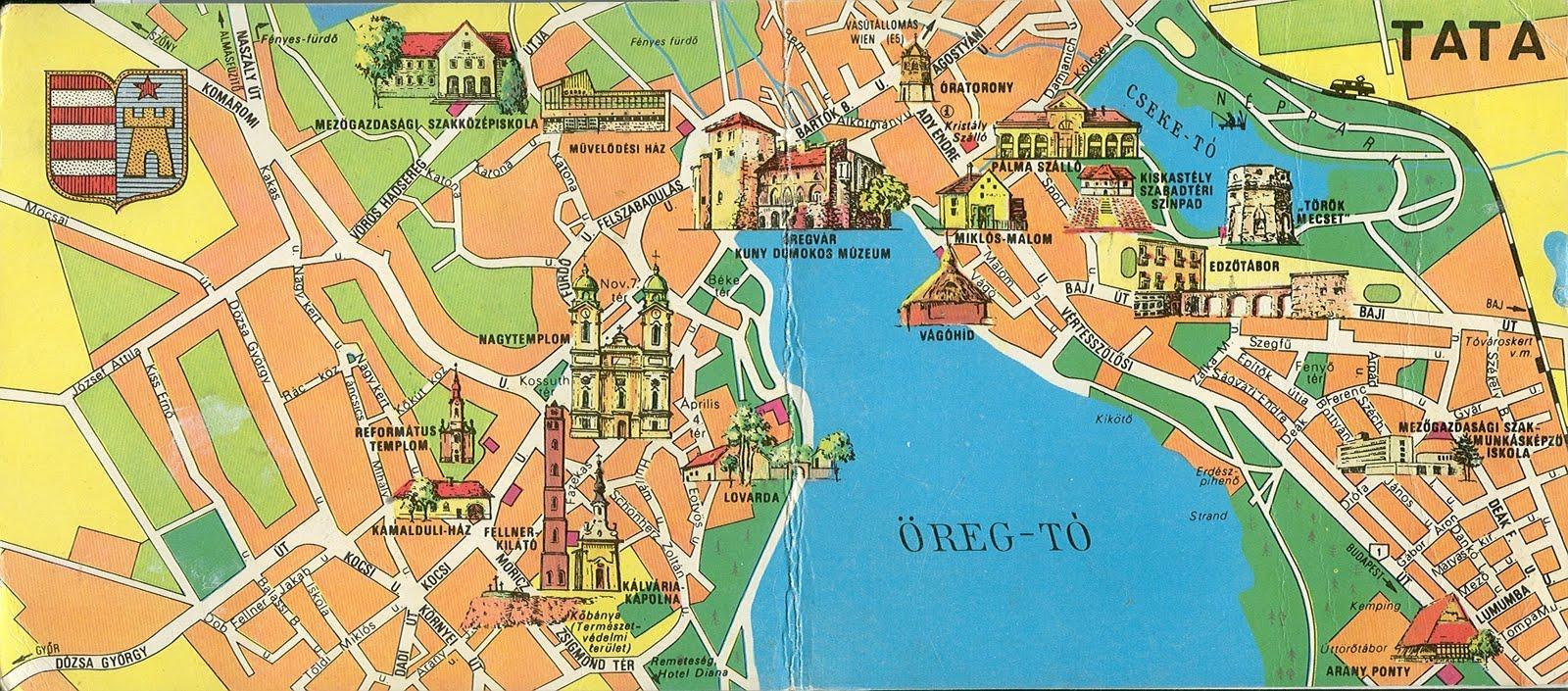 tata térkép Tata és Környéke Térkép | Térkép