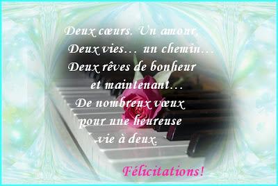 Exemple felicitation mariage gratuit felicitation de mariage - Texte felicitation mariage humour ...