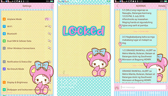 Oppo Theme: Oppe Hello Kitty Cathy Theme