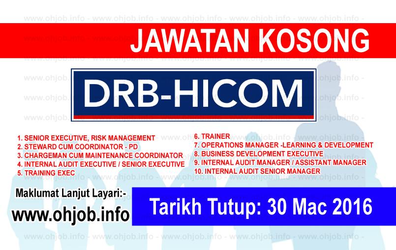 Jawatan Kerja Kosong DRB-HICOM Berhad logo www.ohjob.info mac 2016