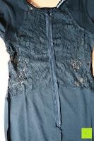Reißverschluss: Alexis Leroy Damen Kappenhülse Jahrgang Halter Split-Seite Formal Abendkleid
