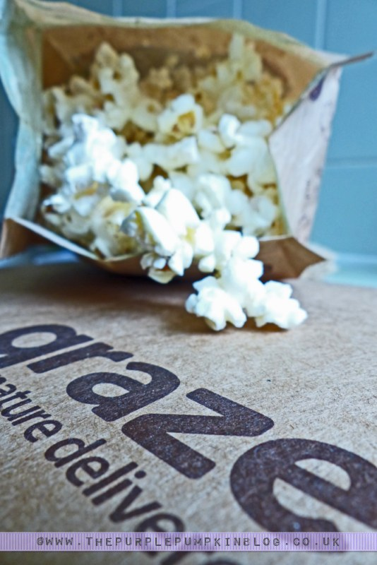 graze box review - lightly salted popcorn