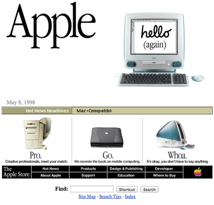 apple website 1998