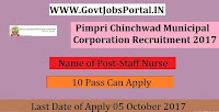 Pimpri Chinchwad Municipal Corporation Recruitment 207– 46 Staff Nurse