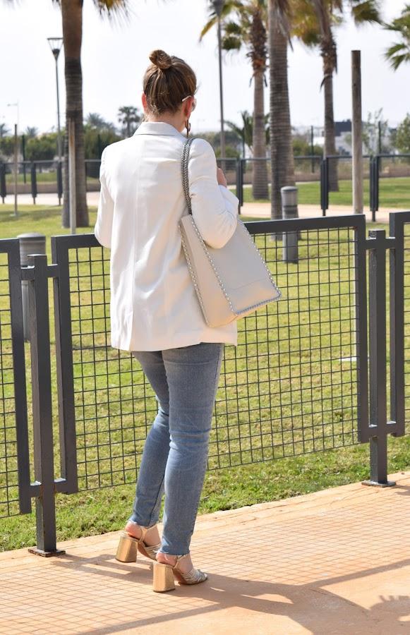 Blazer blanca primavera