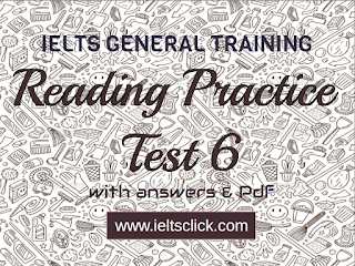 IELTS GENERAL TRAINING  READING