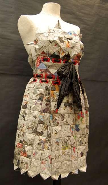 Plastic bag dresses