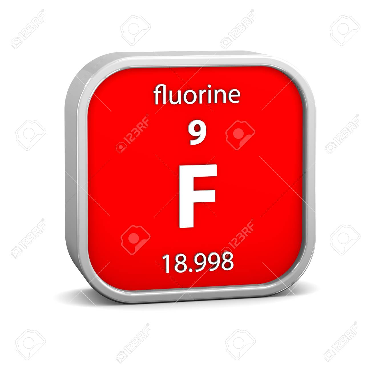Heraldry Of Life 9fluorine Art With F Chemical Element Symbols