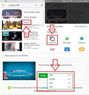 Cara Menyimpan Video YouTube Ke Galeri Tanpa Aplikasi