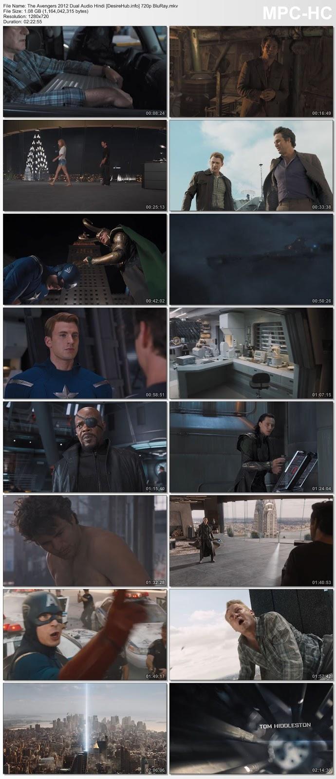 The Avengers 2012 Dual Audio Hindi 480p BluRay 400MB Desirehub