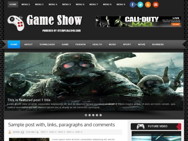 Game Show Blogger Template