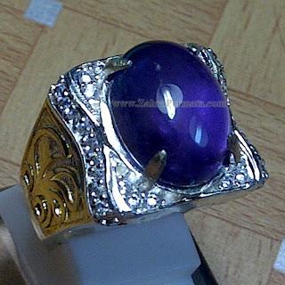 Cincin Batu Kecubung Ungu - ZP 870
