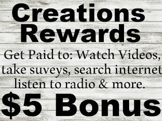 Creation Rewards Promo Codes, CreationRewards Sign up bonus, Creation Rewards $5 Bonus Code