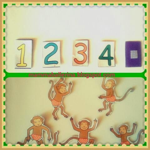 Cinque Scimmiette Saltavano Sul Letto.Mammaballerina By Simo Libro Gioco Delle 5 Scimmiette Che Saltavano