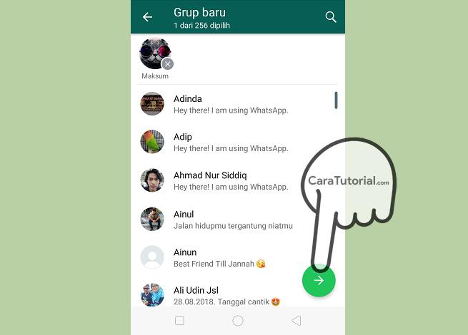 Membuat Grup baru di WhatsApp
