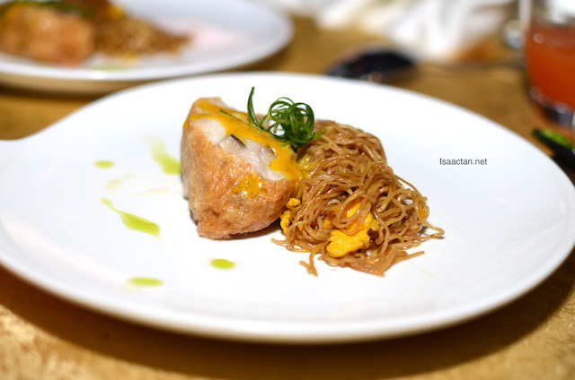 Grouper Wallet served with Homemade Noodles