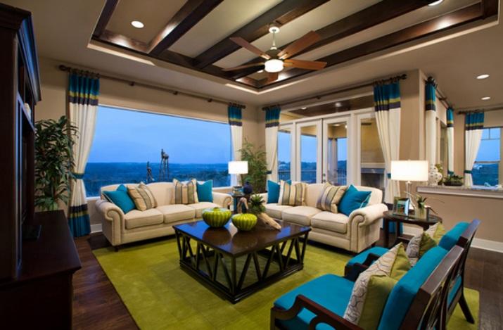 Die Lennoxx Hat Eine Große Auswahl An Atemberaubenden Räume, Die Enthält  Ein Bisschen Von Allem U2013 Genau Wie Dieses Weiße Wohnzimmer Mit Türkis Drin.