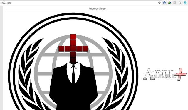 عاجل ! تم اختراق موقع جامعة محمد الخامس الإلكتروني من مجموعة أنونيموس إيطاليا