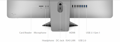 Interfaces on the rear side of the Asus Zen Aio 27