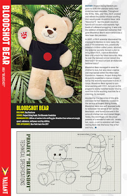 New York Comic Con 2017 Exclusive Bloodshot Salvation Bear Plush by Valiant Comics x Build-A-Bear