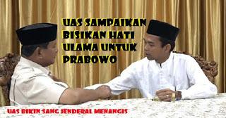 HEBOH UAS Dukung Prabowo, Beginilah Dialog Menggemparkan Prabowo dengan Ustadz Abdul Shomad