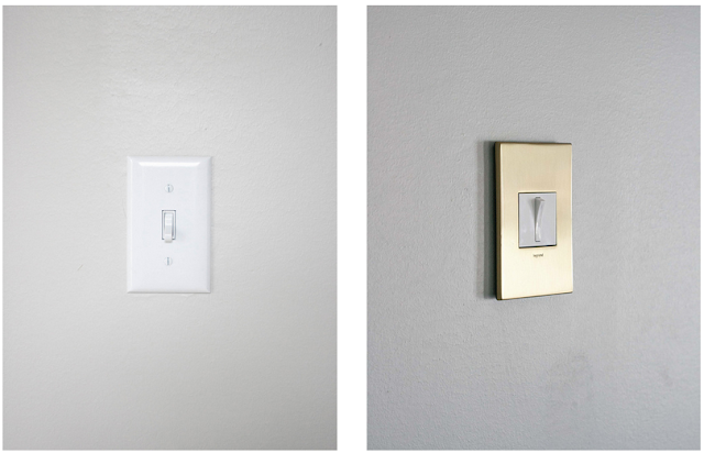 before and after light switches