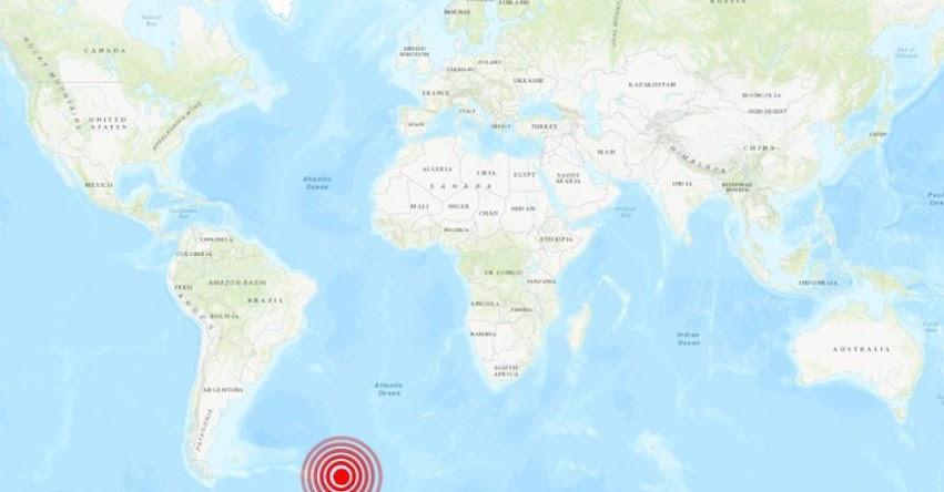 Terremoto de Magnitud 6.5 en el Atlántico, al Sur de Argentina - Alerta de Tsunami (Hoy Viernes 5 Abril 2019) Sismo - Temblor - Epicentro - Isla Visokoi - Sandwich del Sur - USGS