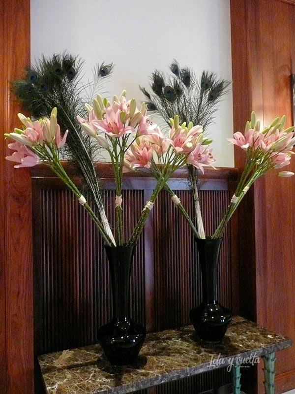 Detalle floral en el hotel