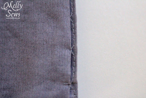 Inside stitching - Sew a Blind Hem with your Sewing Machine - Melly Sews