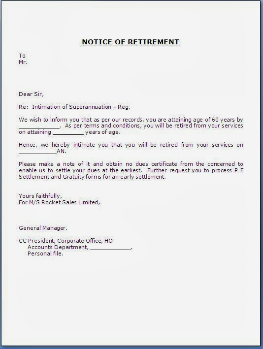 Doc728942 Employer Resignation Letter to Employee acceptance – Resignation Announcement Template