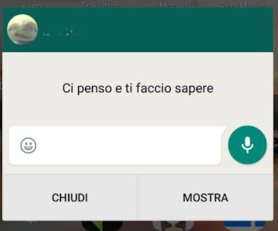 notificha a comparsa WhatsApp