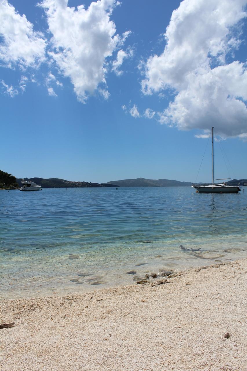 Beach at Trogir in Croatia