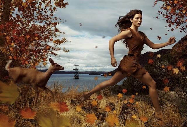 A atriz Jessica Biel é Pocahontas.