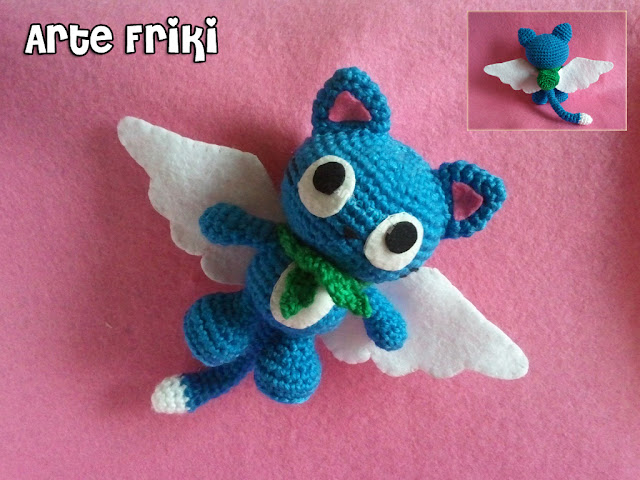 happy fairy tail amigurumi crochet ganchillo peluche muñeco anime manga gato cat exceed