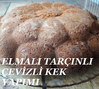 Elmalı Tarçınlı Cevizli Kek Tarifi Resimli