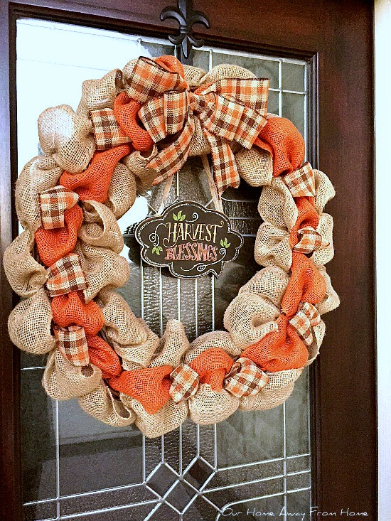 our home away from home make your own fall wreath. Black Bedroom Furniture Sets. Home Design Ideas