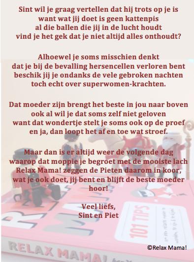Relax Mama Sinterklaasgedichten Elsbeth Teeling