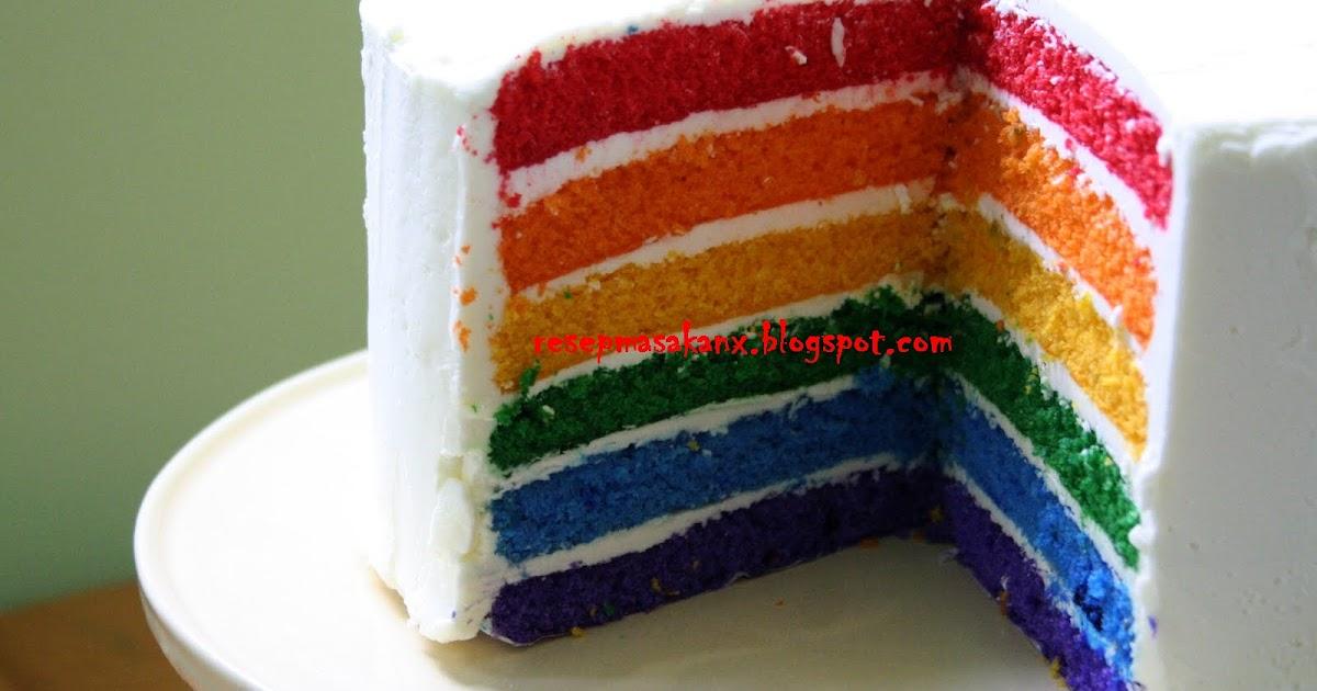 Resep Cake In Jar Rainbow: Resep Rainbow Cake