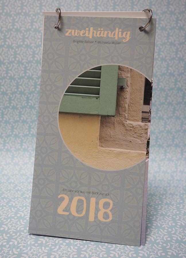 Kalender zweihändig 2018 ©muellerinart ©brigittebalser