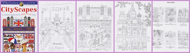 kleurboek city scapes - nieuwe kleurboeken
