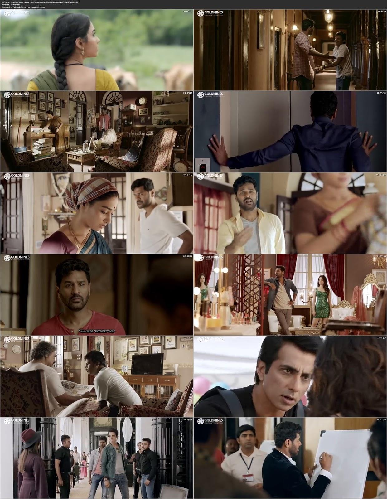 Abhinetri No 1 2018 Full Movie in Hindi 300MB HDRip 480p at movies500.bid
