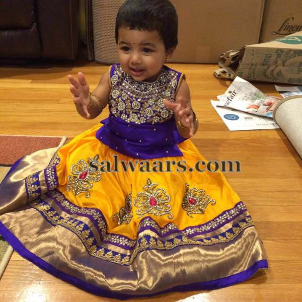 Baby in Grand Work Silk Lehenga