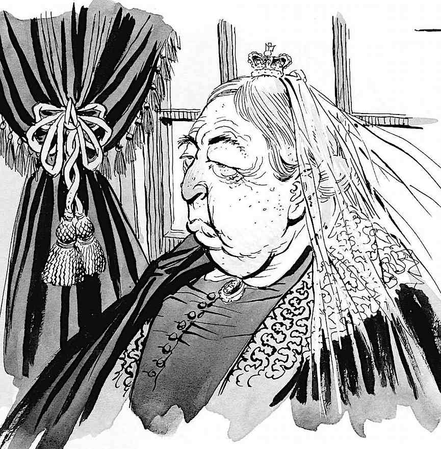 a George Woodbridge caricature of 1800s British Queen Victoria,  for MAD