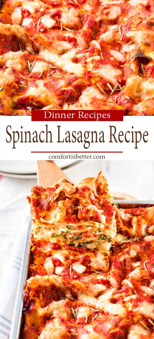 Easy & Delicious Spinach Lasagna Recipe