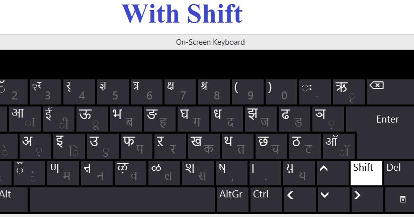 mangal font keyboard layout pdf