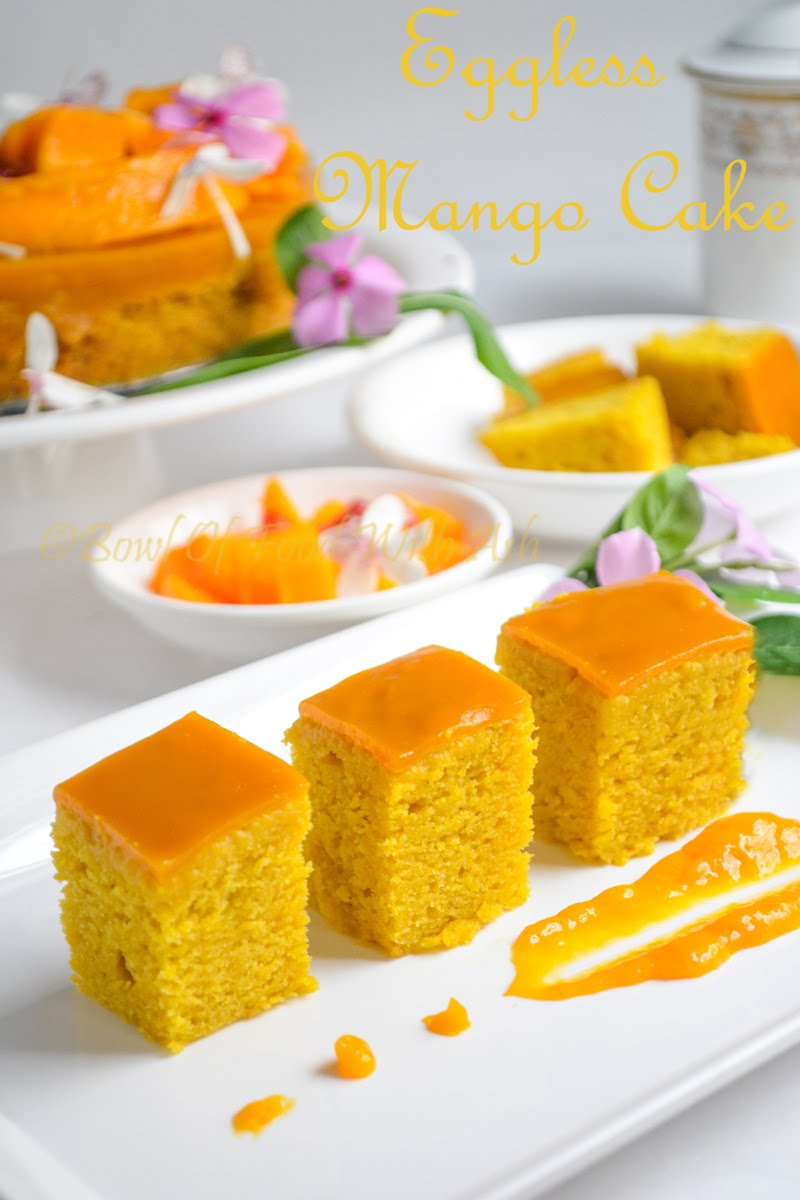 Eggless Mango Cake Recipe | How To Make Eggless Mango Cake